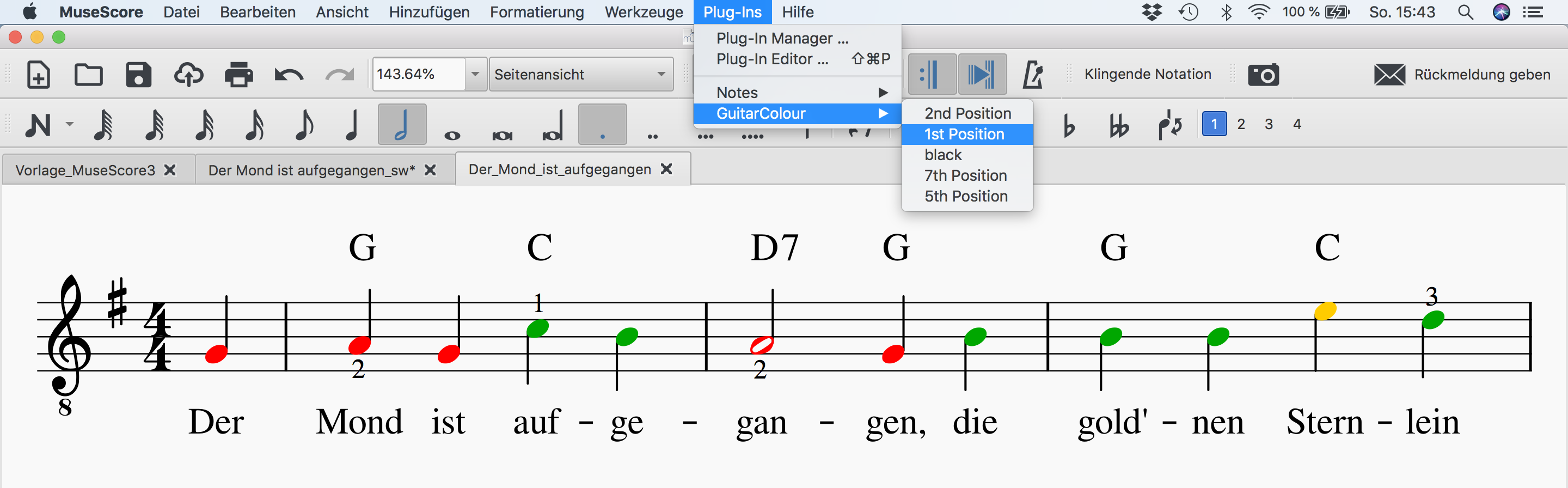 Plugin - Guitar Colour System - MuseScore 3